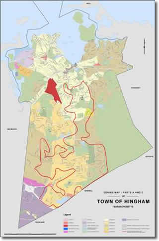 Hingham Zoning Map Parts A and C